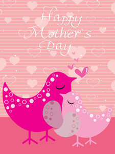 Bird Pattern Mother Day Card
