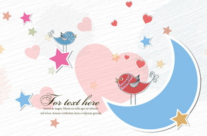 Birds In Love Vector Illustration