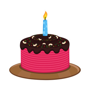 Birthday Cake Vector Art