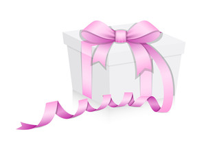 Birthday Gift Box Vector Illustration