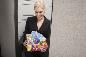 Birthday gift in office