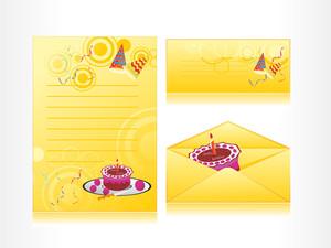 Birthday Pattern Postcard