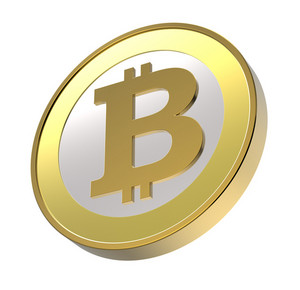 Bitcoin Isolated On White.