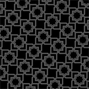 Black And White Arabic Pattern