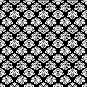 Black And White Crowns Pattern