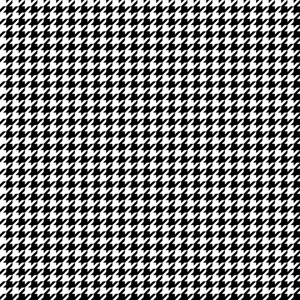 Black And White Houndstooth Pattern
