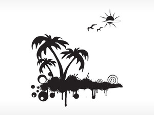 Black And White Summer Background