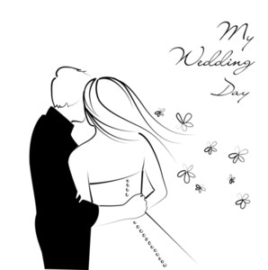Black And White Wedding Background-