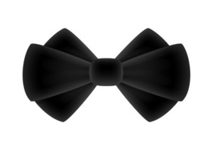 Black Anniversary Ribbon Bow