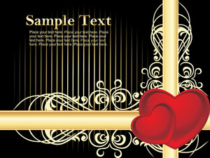 Black Background With Beautiful Design Text