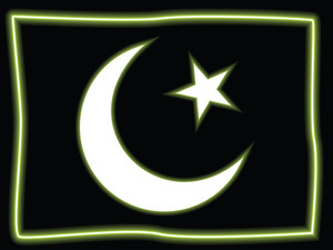 Black Background With Pak Flag Symbol
