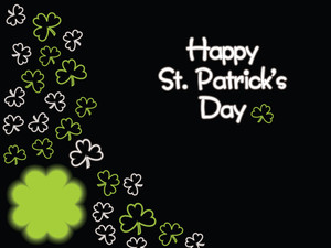 Black Background With St. Patrick's Theme 17 March