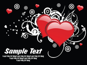 Black Background With Valentine Vector