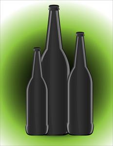 Black Bottles Vector