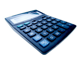 Black Business Calculator Isolated On White