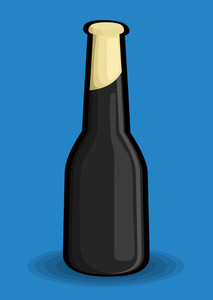 Black Champaign Bottle Vector