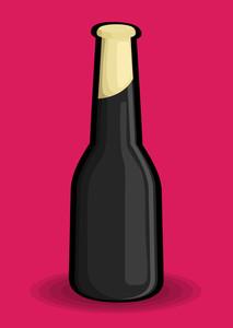 Black Champaign Bottle