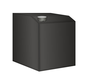 Black Container Vector Illustration
