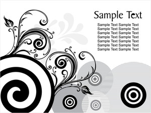 Black Creative Floral Design With Sample Text