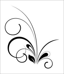 Black Floral Art