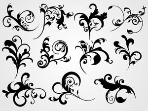 Black Floral Tattoos