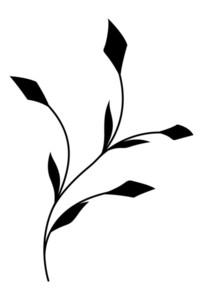 Black Flourish Twig