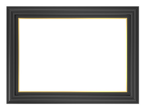 Black Frame Isolated On White Background.