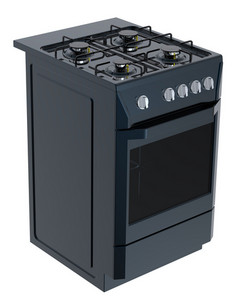 Black Free Standing Cooker.