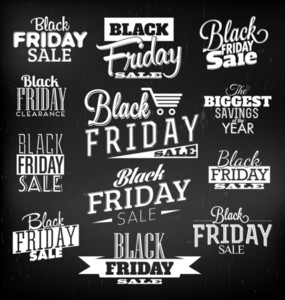 Black Friday caligráfico Designs | Estilo Retro Elements | Vintage Ornaments | Venda