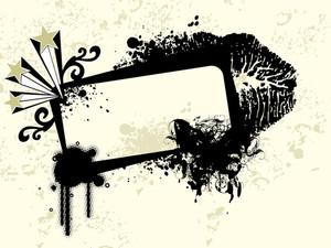 Black Grunge Banner Llustration
