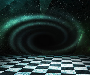 Black Hole Abstract Stage Background