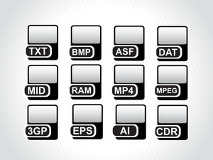 Black Icons For Computer Generated File