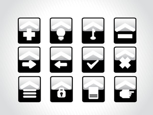 Black Icons For Multiple Use