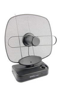 Black Indoor Television Antenna On White