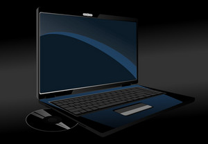 Black Laptop Vector