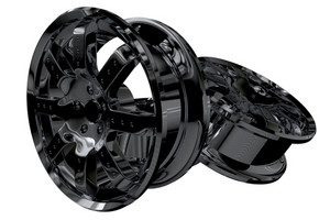 Black Metal Wheels