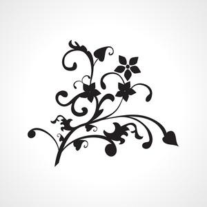 Black Natural Pattern Tattoo