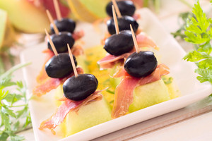 Black Olives And Italian Prosciutto