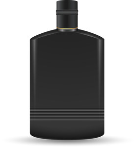 Black Plastic Bottle Illustration