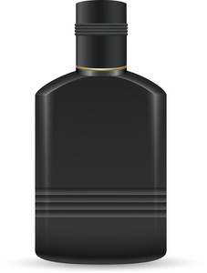 Black Plastic Bottle Vector