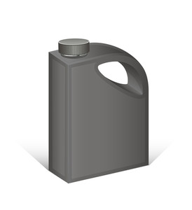 Black Plastic Can Vector