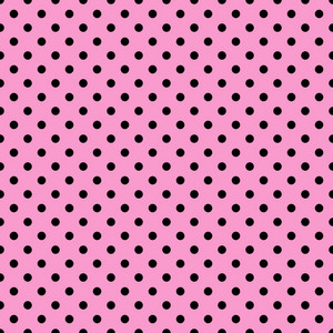 Black Polka Dots Pattern On A Pink Background