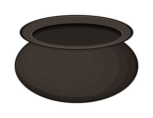 Black Shape Cauldron