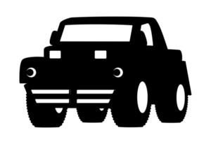 Black Shape Jeep Vector