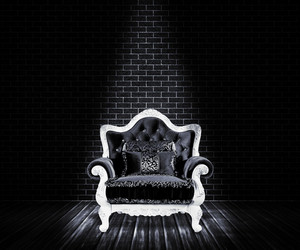 Black Sofa Interior Backdrop