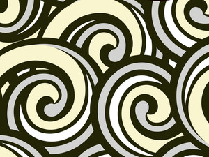 Black Spirals Pattern Illustration
