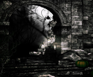 Black Spooky Background