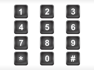 Black Squire Number Set