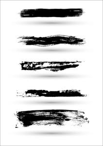 Black Strokes Grunge Vectors