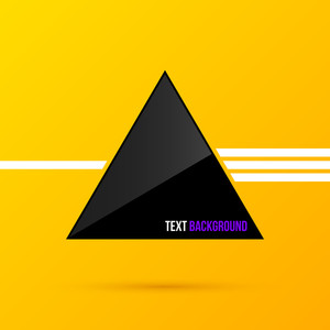 Black Triangle Text Background. Eps10